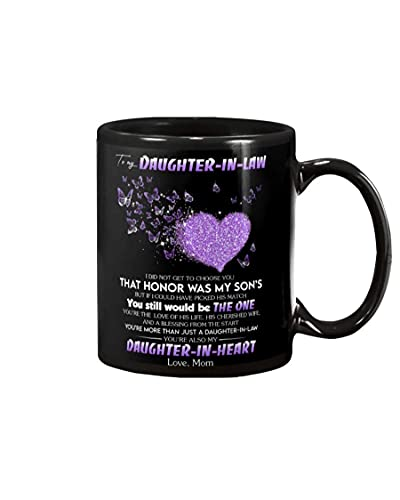 N\A Taza Personalizada para mi nuera Arte del corazón No te elegí Ese Honor era mi Hijo Regalos Hermosos Taza de cerámica Taza de té