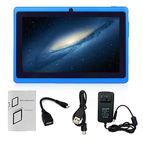 WXZQ 7 Pulgadas HD Pantalla Android Quad-Core Tablet PC 2.0MP Cámara Soporte Tarjeta TF Azul 512MB + 4GB EU
