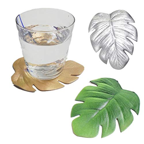 yitao Posavasos 3 unids/set EVA forma de hoja posavasos aroma taza bebidas titular estera vajilla manteles individuales té vidrio pad antideslizante taza decoración mesa