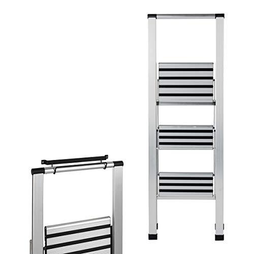WENKO Aluminium-Klapptrittleitern-Set, 2 teilig