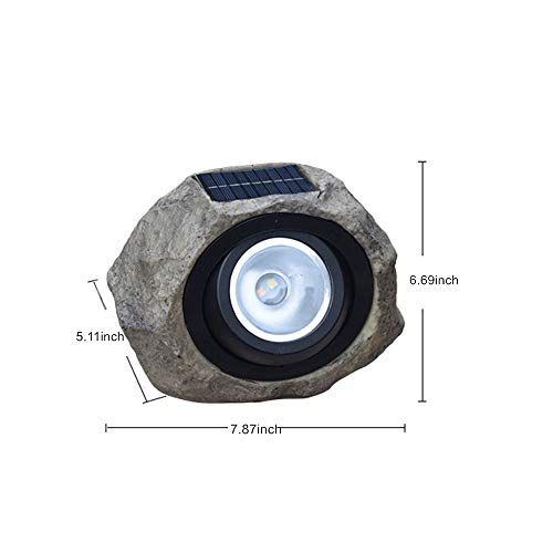 Solar Rock Lights Outdoor ,Waterproof Decorative Stone Light, Dual Color Spotlight ,Landscaping Figurine Lights for Decor, Garden,Pathway,Driveway,Ponds,Patio,Yard (Dual Color)