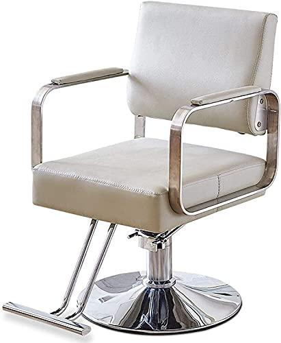 Sillón de peluquero reclinable hidráulico multiusos, sillón de peluquero, sillón de peluquería para trabajo pesado, sillón de corte de pelo hidráulico, cuero de PU ajustable en altura, equipo de cham