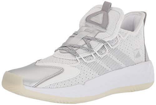 adidas unisex adult Coll3ctiv3 2020 Low Indoor Court Shoe, White/Silver Metallic, 9.5 US