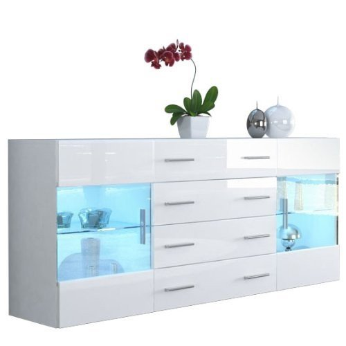 mobile credenza madia Open bianco bianco lucido 166