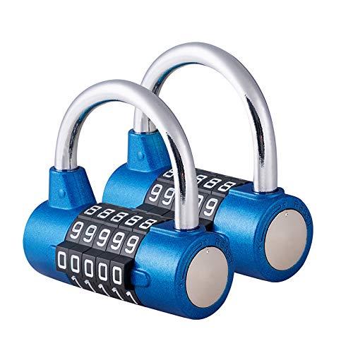 Surplex 2 Pcs Cerradura de la Combinación de Seguridad Candado de 5...