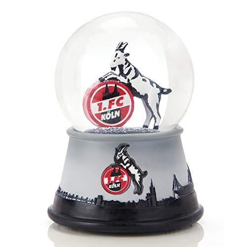 1. FC Köln XL Schneekugel mit 3D-Logo und Musik - Plus Lesezeichen I Love Köln