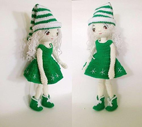 Doll amigurumi: CHRISTMAS DOLL PATTERN, doll amigurumi, doll crochet
