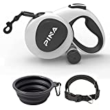 PINA Heavy Duty Retractable Dog Leash for Large Dogs Up to 150lbs, 16ft 360° Tangle-Free Strong Reflective Nylon Leash, with Anti-Slip Handle, One-Handed Brake, Pause, Lock