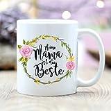 Couronne de fleurs en céramique Mama « Le meilleur cadeau pour votre ami, votre famille