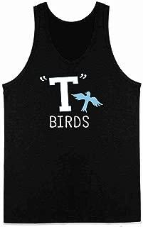 T Birds Tbird Costume Men Gang Logo Retro 50s 60s Sleeveless Shirt Tank Top Mens