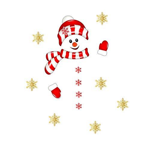 AzsfUfsa53 Christmas Sticker Christmas Snowman Wall Fridge Self Adhesive Sticker Car Party Xmas Decal Decor Christmas Supplies Decorations 4 1#