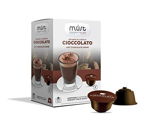 Must Espresso Italiano 96 Capsule Compatibili Dolce Gusto Bevanda al Cioccolato - 6 confezioni da 16 capsule