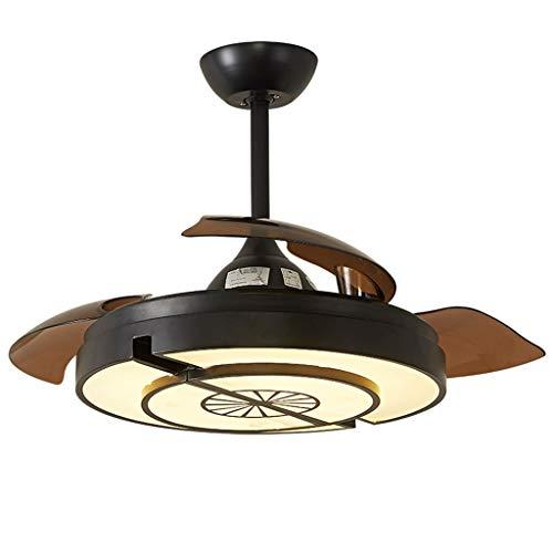 TB Kroonluchter, LED Dimbare Kroonluchter, Home Retro Plafond Ventilator Kroonluchter Woonkamer/Eetkamer/Slaapkamer Onzichtbare Fan Kroonluchter Kroonluchter