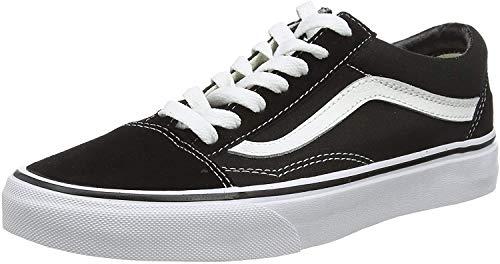 Vans Ua Old Skool, Sneaker da uomo, colore grigio, 47 EU, Nero (nero bianco), 38 EU