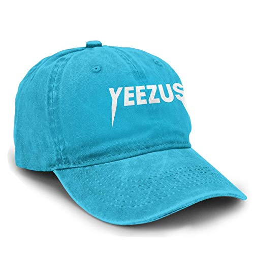Shichangwei Basecap Snapback Outdoor Baseball Kappe Mütze Baseball Cap Yeezus Logo Durable Unisex Adult Denim Hats Black