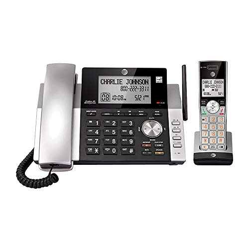 AT&T CL84115 6.0 Expandable Corded/Cordless Phone System With Digital Answering System