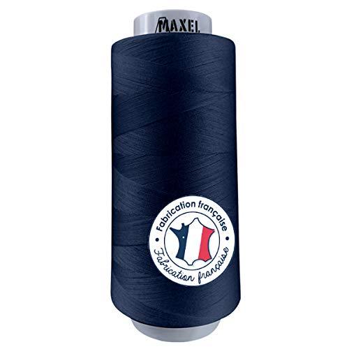 Made in France – Hilo de coser Poliéster AZUL MARINO 2,500m – Bobina para máquina de coser – Certificado ECOGRIFFE y OEKO-TEX® (AZUL MARINO)