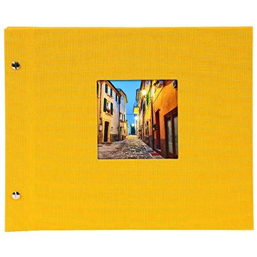goldbuch 26891 Schraubalbum mit Fensterausschnitt, Bella Vista, 30 x 25 cm, Fotoalbum mit 40 weiße...