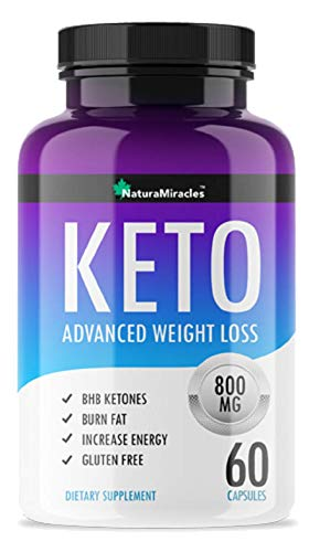 Keto Diet Advanced Weight Management by Natura Miracles/QFL™ -800MG - Advanced Weight Management Ketosis Supplement - 60 Capsules - 30 Days Supply (1 Bottle)