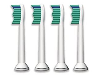Philips Sonicare Ersatzbürsten Original ProResults HX6014/35 gelangen an schwer erreichbare Stellen & passen auf jede Sonicare Zahnbürste mit Aufsteck-System – 4er Pack, Standard, Weiß (B003YFIRWG) | Amazon price tracker / tracking, Amazon price history charts, Amazon price watches, Amazon price drop alerts