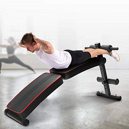 Professional Folding Sit Up Inclined Bench with Fitness Rods, for Abs Abdominal Bench Press Reverse Crunch Core Workout,Utility Bench, Home Gym Strength Training Fitness Equipment【Shipping from US】 (Bench)