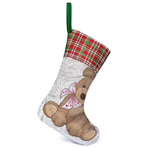 Adorise Customize Stockings Teddy Bear Nursery Theme Toy Hanging Christmas Stocking It Make Your Christmas Much Sweeter