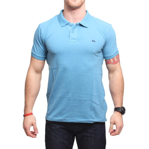 Quiksilver Herren Polo Shirt , Polo - Blau - Niagara - Medium