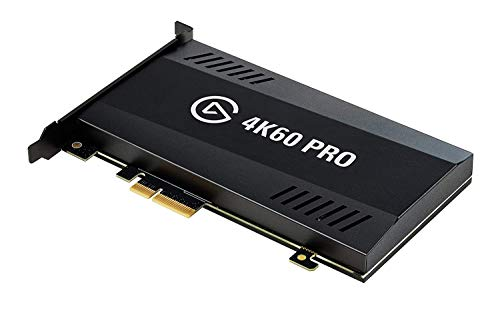Elgato Game Capture 4K60 Pro, 4K 60fps Aufnahmekarte mit Ultra-Low-Latency Technologie Zum Aufnehmen und Streamen von PS4 Pro und Xbox One X Gameplay, PCIe x4