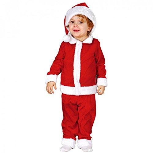 GUIRMA 42525 - Disfraz de Papá Noel de lujo para niños de 6 a 12 meses, color rojo