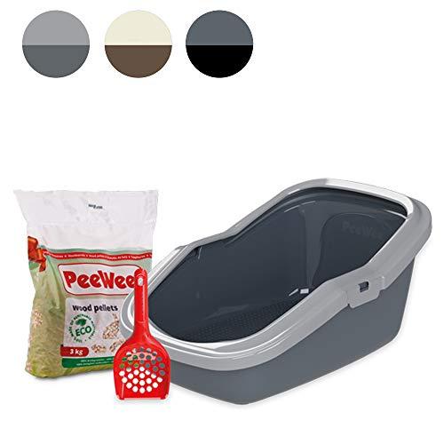 PeeWee EcoMinor - Katzentoilette - Starter-Paket Grau