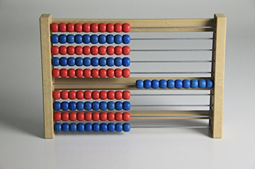 WISSNER aktiv lernen - 100 er Rechenrahmen rot/blau - RE-Wood