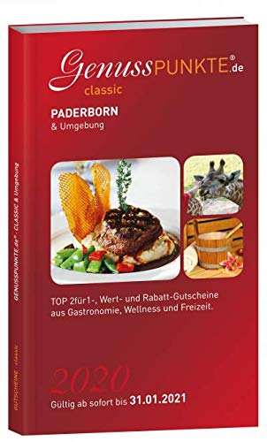 Gutscheinbuch GenussPUNKTE Paderborn & Umgebung 2020 - gültig ab sofort bis 31.01.2021 - TOP 2für1-, Wert- und Rabatt-Gutscheine aus Gastronomie, Freizeit und Kultur