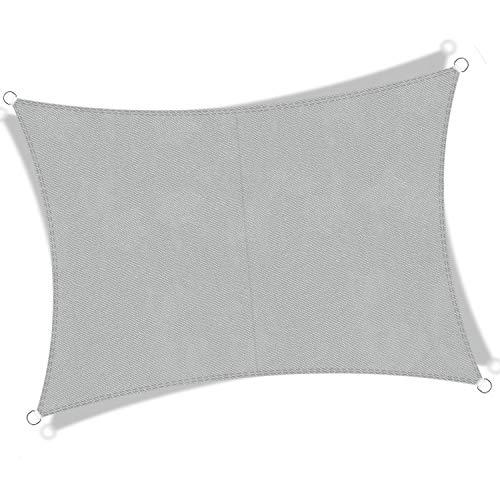 JYYnet Vela Ombreggiante, Vela Parasole Tenda a Vela Impermeabile Protezione Raggi UV Vela Tenda per Giardino Terrazza Campeggio(3×4m,grigio chiaro)