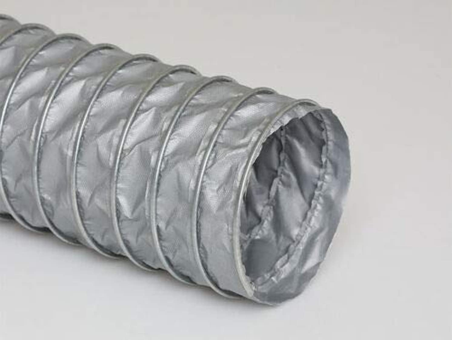 Steel Wire Reinforced Compressible Welding Fume Extraction Silicone Coated Flexible Hose, 8