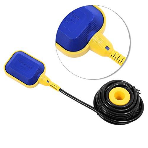 Cocoarm Kabel Schwimmerschalter Wasserstandsregler Schwimmerschalter Pumpe Pegelschalter Wechsler für Tankpumpe Gartenpumpen Tauchpumpen 250V (5 M)