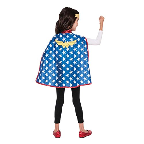 Generique - Mantello e tiara Wonder Woman Super Hero Girls bambini
