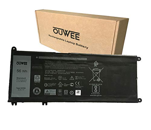 OUWEE 33YDH Laptop Battery Compatible with Dell Inspiron 7577 7773 7778 7779 7786 G3 3579 3779 G5 5587 G7 7588 Latitude 3380 3490 3590 Vostro 7570 7580 Series PVHT1 81PF3 P30E 15.2V 56Wh 3500mAh