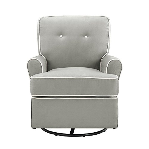 Baby Relax The Tinsley Nursery Swivel Glider Chair, Grey