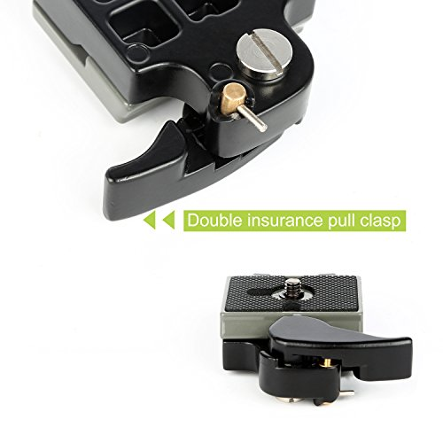 Camera Tripod Quick Release QR Plate Adapter with 1/4
