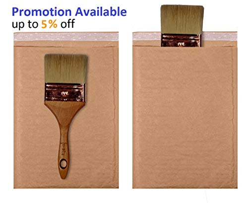 AMZ Supply Natural Kraft bubble mailers 6x9 Brown Padded envelopes 6 x 9 by Amiff. Pack of 20 Kraft Paper cushion envelopes. Exterior size 7x10 (7 x 10). Peel and Seal. Mailing, shipping, packaging. Photo #9