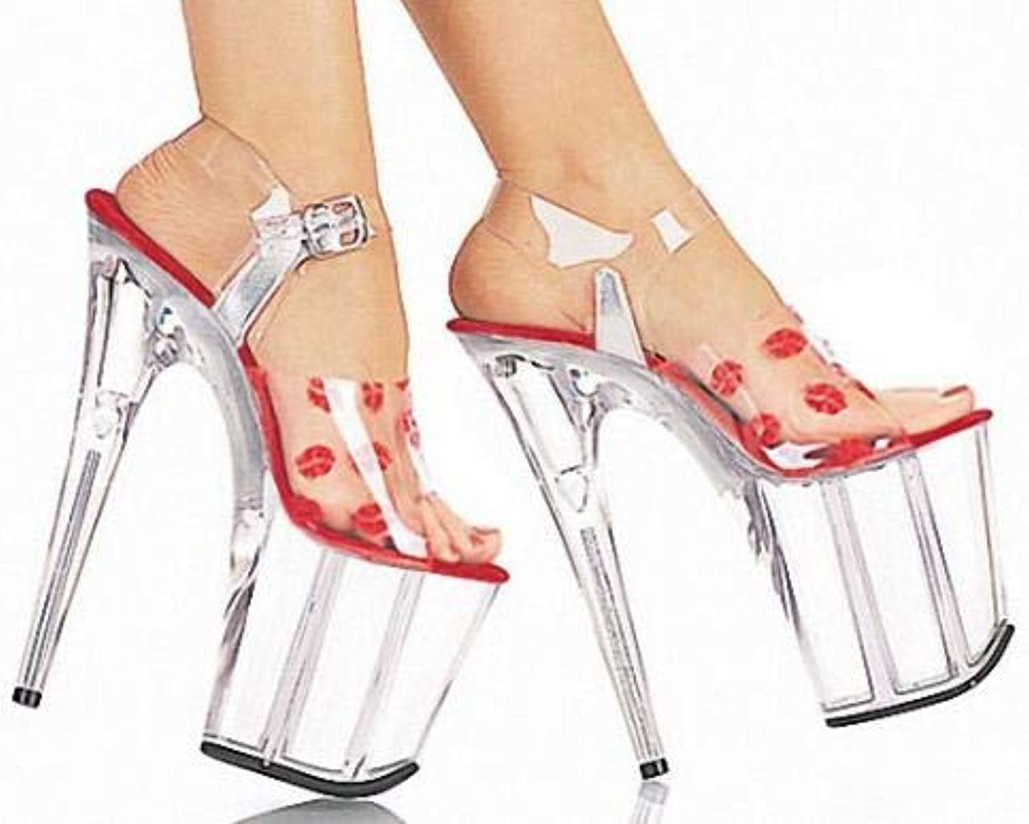 FairOnly South Korean Women's shoes, Sexy high Heel Sandals Lips Sexy Sandals, Pole Dancing Performance Bride Photo Dance shoes E012