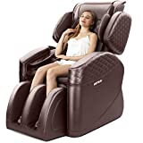 Kuntai New Massage Chair, 10 Angle Zero Gravity Massage Chairs Full Body and Recliner, Body Massager Electric Full Body, Intelligent Air Massage, Built-in Heating Triple Foot Massage Therapy, Brown