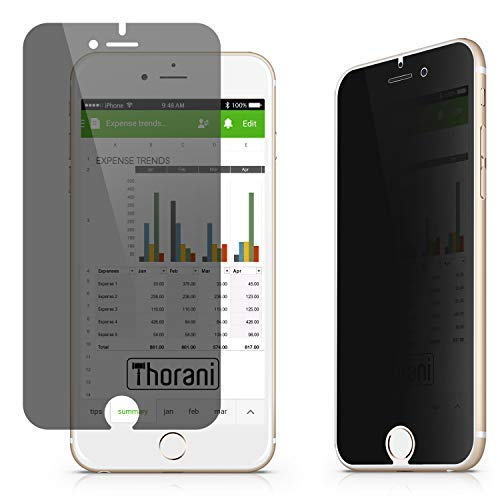 Thorani Privacy Filter compatibel met Apple iPhone 6 Plus, 7 Plus & 8 Plus I Schermbeschermer met Anti-Spy Functie