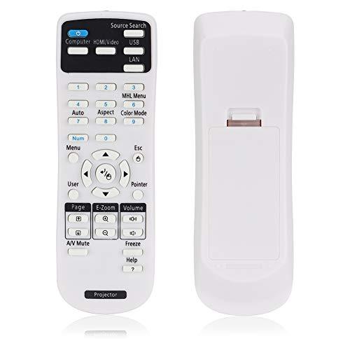 minifinker Projektor-Fernbedienung, einfache Bedienung Hochwertige ABS Smart-Projektor-Fernbedienung Praktisch für EPSON EX3220 EX5220, EX5230, EX6220. Projektor