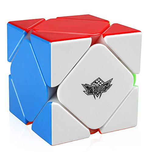 Coogam Cyclone Boys Magnético Skewb Irregular Skewb Cubo Magico Sin Etiqueta Twist Puzzle Rompecabezas Juguete