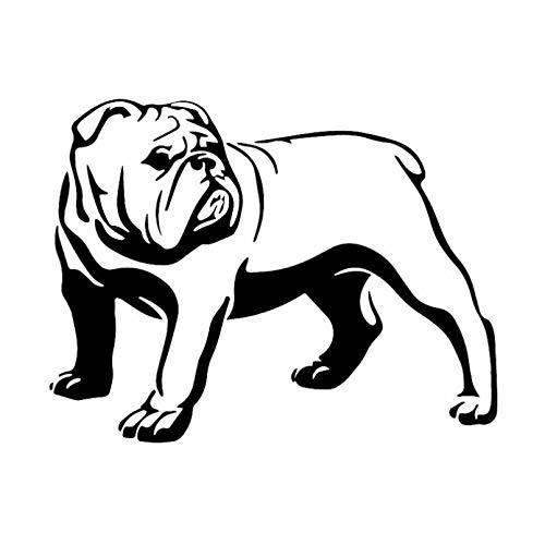 GDYL Etiquetas Engomadas del Coche 15.8X12.1Cm Intereting Olde English Bulldog Bully Dog Calcomanía Etiqueta Engomada del Coche Vinilo Negro/Plata