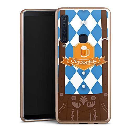 DeinDesign Silikon Hülle Gold Case Schutzhülle kompatibel mit Samsung Galaxy A9 (2018) Oktoberfest Lederhose München