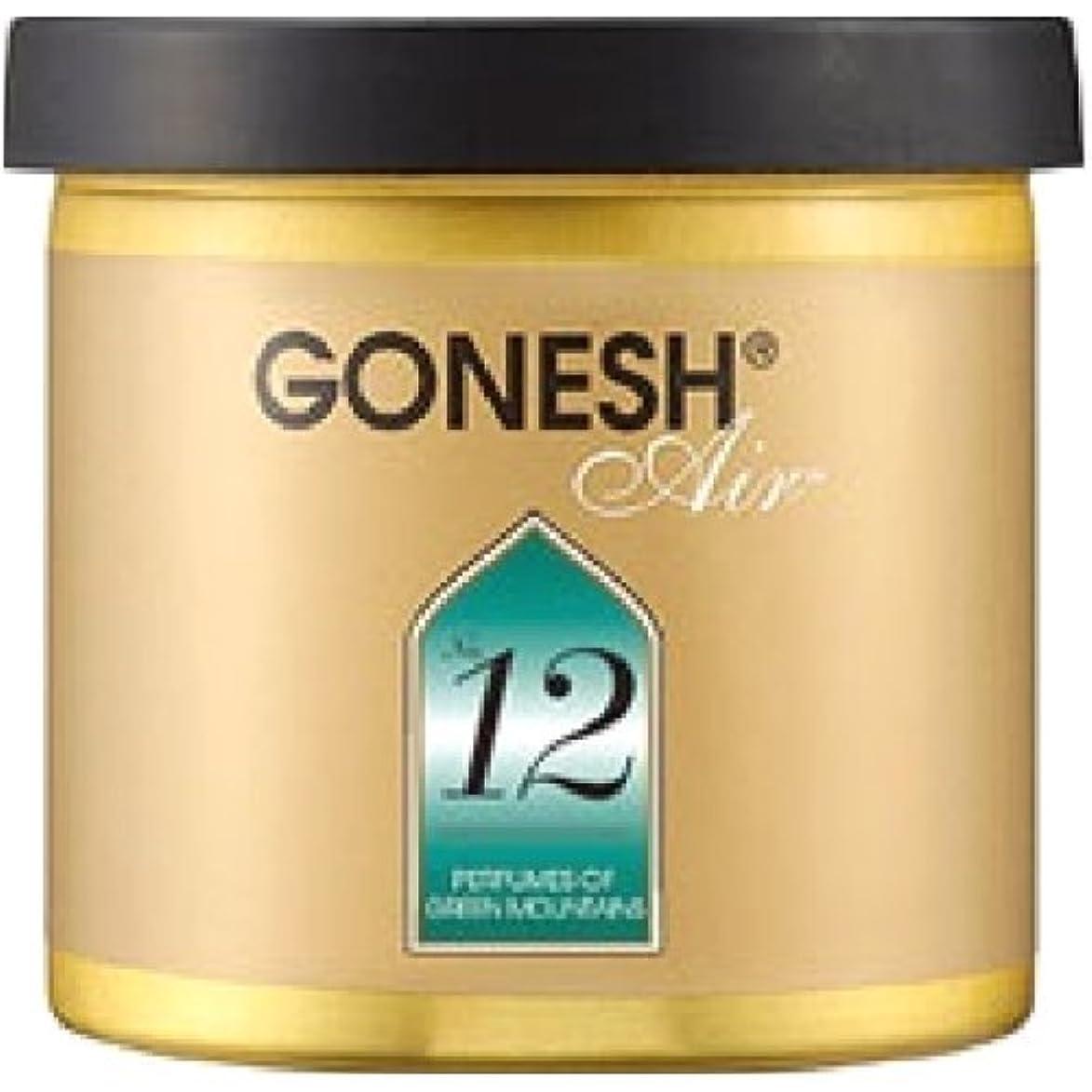 市長量でケニアGONESH(ガーネッシュ)ゲルエアフレッシュナー NO.12 78g(グリーンフローラルの香り)