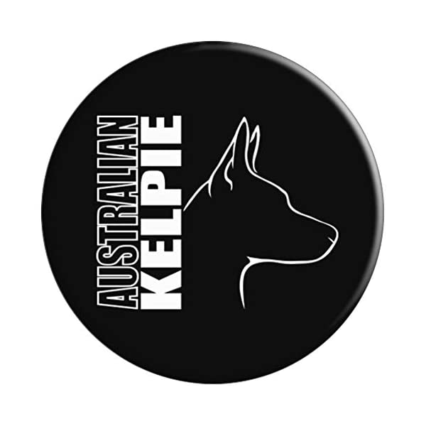 Proud Australian Kelpie profile dog mom lover gift PopSockets Grip and Stand for Phones and Tablets 3