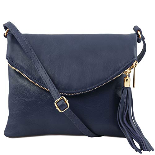 Tuscany Leather TL Young Bag Borsa a tracolla con nappa Blu scuro